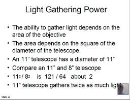 telescopes light gathering power resolution magnification