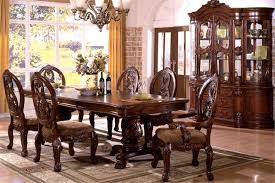 formal dining tables set. tuscany antique cherry formal pedestal dining table set tables