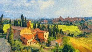 countryside in tuscany style van gogh 115 000 digital brushstrokes