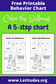 Color Behavior Chart Printable Free Behavior Chart Color The Balloons Acn Latitudes