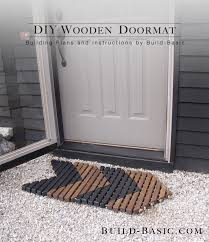 diy wooden doormat by build basic project opener image