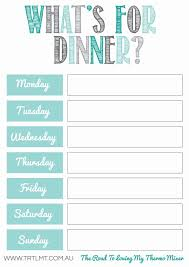 weekly menue planner what s for dinner 2 fb organization pinterest free meal