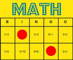 Image result for math bingo