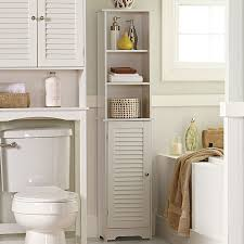 High Gloss Storage Cabinets Tall Wooden Bathroom Cabinets