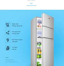Tủ lạnh 3 cánh 148L SAKURA màu bạc tủ lạnh mini tủ lạnh cỡ nhỏ ba cửa 3  cánh 3 ngăn làm lạnh, đông mềm, đông đá, sang trọng hiện đại tiết