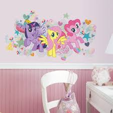 roommates 5 in x 19 in peel and stick my little pony wall