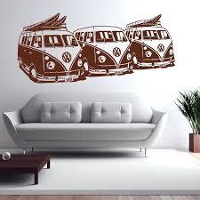 car home decor art design wall sticker 3 surf vans home decor car wall decals house car home decor