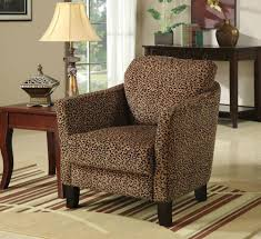 Printed Chairs Living Room Leopard Print Accent Chair For Exotic Room Taste New Teak Furnitures