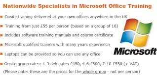 Brown Microsoft Office Excel Training Courses Derbyshire Paul Brown Training Ltd
