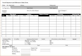 Travel Expense Claim Form Template Tirevi Fontanacountryinn Com