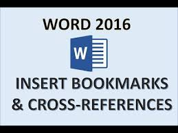Word 2016 Insert Bookmarks And Cross References Youtube