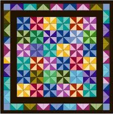 Use a Multicolored Fabric to Inspire a Quilt Design & pinwheel quilt Adamdwight.com