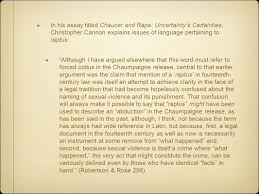 raptus by spencer todd hirsch by spencer todd hirsch ppt  in his essay titled chaucer and rape uncertainty s certainties christopher cannon explains issues of