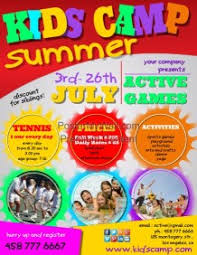 Summer Camp Pamplets Create Summer Camp Posters Online Postermywall