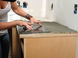 Kitchen Granite Counter Top How To Install A Granite Tile Kitchen Countertop How Tos Diy