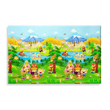 amazoncom baby care large baby play mat in let's go camping
