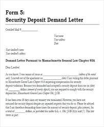 Security Deposit Demand Letter