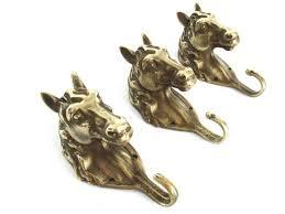 Brass Horse Head Coat Rack Cool Equestrian UpperDutch