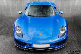 porsche 918 spyder blue. sapphire blue metallic 918 spyder by spykerforce porsche