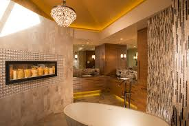 master bedroom feature wall: master bedroom feature wall bathroom contemporary with bathtub faucet wall tile
