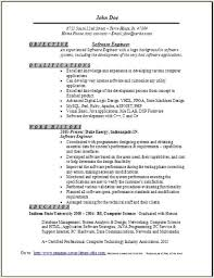 Software Engineer Resume Summary Best Of Software Engineer Resume