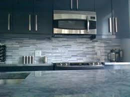 grey kitchen with granite contemporary subway tile blue and backsplash gray brown glass kit