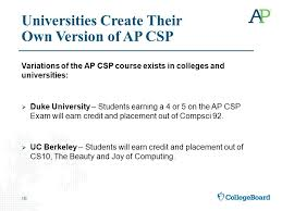 Introducing Ap Computer Science Principles Launching Fall