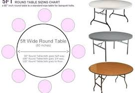 endearing 5 foot round table of 60 seats how many inches com