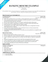 Personal Banker Resume Examples Stunning Sample Resume In Banking Sector With Sample For Banking Sector Bank