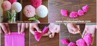 How To Make A Flower Out Of Tissue Paper Step By Step Tissue Paper Archives Step By Step Ideas