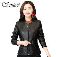 ซ อท ไหน 2019 spring faux leather jackets women plus size 4xl black short women s leather jacket slim motorcycle biker outerwear coats