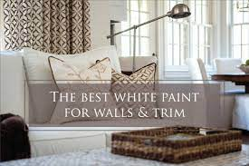 white paint color for walls and trim