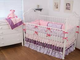 colorful crib bedding lovely although lilac damask and pink damask baby bedding with ruffles and hot