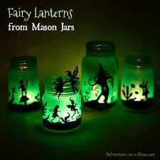 Fairy In A Jar Night Light Fairy Lanterns From Mason Jars Adventure In A Box