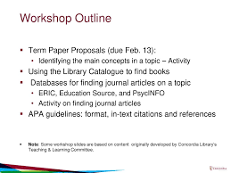 Educ 210 Researching Term Paper Topics And Using Apa Ppt Download
