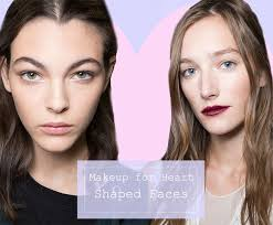 easy makeup tips for heart shaped faces