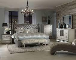 Hollywood Swank Bedroom Set W/ Metallic Graphite Bed Aico Furniture ...