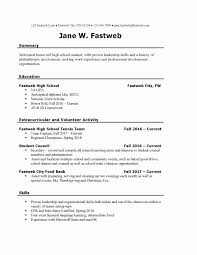 First Part Time Job Resume Sample Fastweb Resume Templates