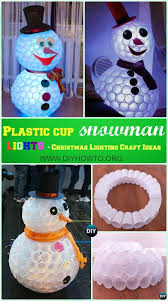 diy christmas lighting. Diy Plastic Cup Snowman Lights Instruction Christmas Scheme Of Outdoor Holiday Lighting G