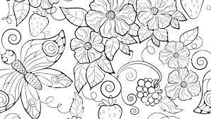 Printable Coloring Pages Of Flowers And Butterflies Coloring Pages Of Flower Happythai Co