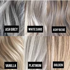 Blonde Color Tone Chart In 2019 Hair Color Grey Blonde