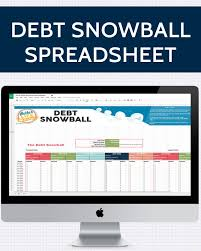 Debt Reduction Calculator Template For Excel Snowball Spreadsheet