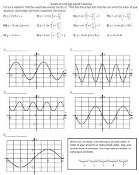 graphs of sine and cosine worksheet