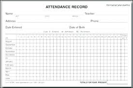 Download By Employee Attendance Record Template Excel Monthly