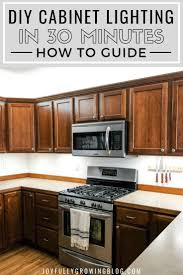 Kitchen Counter Lighting Ideas How To Add Kitchen Under Cabinet Lighting In Just 30 Minutes