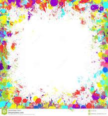 colorful paint splatter border. Paint Splatter Border Clipart Throughout Colorful