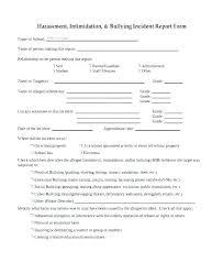 Elementary School Incident Report Template