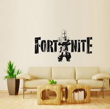fortnite wall sticker 76 43cm art pvc baby room wall decals cartoon game wall stickers toys oo16 wall decorations for baby boy room nursery wall decal