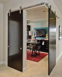 barn door office. wall mounted doors for an industrial look barn door track system and office o