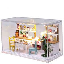 Diy Doll House Model Building Kit Wooden 3d Handmade Miniature